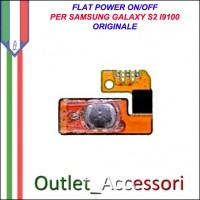 Flat Flex Cavo Ricambio Originale Power Accensione on off per Samsung Galaxy S2 I9100 Gt-I9100
