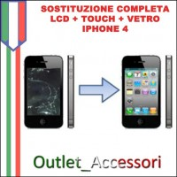 Sostituzione Display Lcd Touch Vetro per Apple Iphone 4
