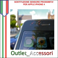 Sostituzione Riparazione Sensore Prosimita Luminosita Movimento per Apple Iphone 4