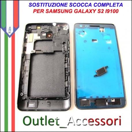 Sostituzione Cambio Assemblaggio Housing Scocca Cornice Tasti per Samsung Galaxy S2 I9100 GT-I9100