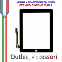 Touch Touchscreen Vetro Apple Ipad 3 Ricambio NERO A1416 A1430 A1403