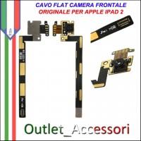 Camera Fotocamera Frontale Flat flex Lens Ricambio Originale per Apple Ipad 2 Ipad2