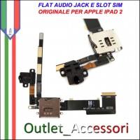 Circuito Flat Flex Audio Lettore Sim Modulo Ricambio Originale per Apple Ipad 2 Ipad2 3g wifi