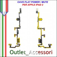 Flat Flex Power Accensione Ricambio Originale per Apple Ipad 2 Ipad2 3g wifi