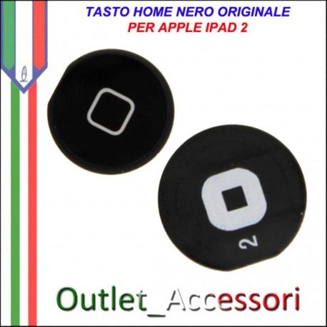 Tasto Pulsante home Centrale per Apple ipad 2 Ipad2 Nero Ricambio Originale