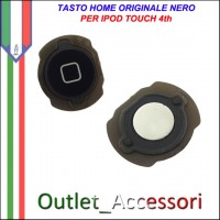 Tasto Pulsante home Centrale per Apple Ipod Touch 4 4th Nero Ricambio Originale