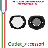 Tasto Pulsante home Centrale per Apple Ipod Touch 4 4th Bianco Ricambio Originale