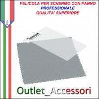 Pellicola con Panno Protezione per Display Screen Protector Guard Per Blackberry Curve 8520