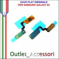 Flat Flex CavoTasto Home Pulsante Ricambio Originale per Samsung Galaxy S3 I9300