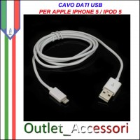 Cavo Usb Dati Lightning ad 8 Pin per Apple Iphone 5 Ipod