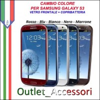 Cambio Colore Conversione Vetro Copribatteria per Samsung Galaxy S3