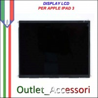 Display Schermo Lcd per Apple Ipad 3 Retina Originale Ipad3 Nuovo