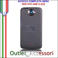 Scocca Cover Housing Completa Tasti flat per HTC One X S720e G23 Nera Black