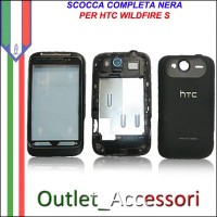 Scocca Cover Housing Completa Tasti flat per HTC Wildfire S Originale Nera
