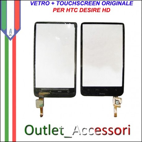 Vetro Touch Touchscreen Digitizer Ricambio Originale per HTC Desire HD A9191
