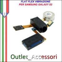Flat Flex Cavo Ricambio Originale Vibrazione Jack Cuffie Motorino per Samsung Galaxy S2 GT-I9100