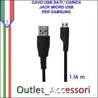 Cavo Usb Micro Dati Ricarica per prodotit Samsung Blackberry Nokia