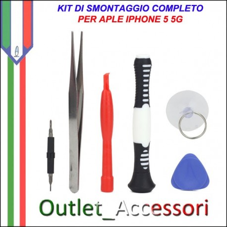 Kit Set Completo Di Smontaggio Apertura Tools per Apple Iphone 5 5g