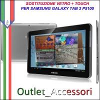 Riparazione Sostituzione Cambio Vetro Touch Touchscreen Rotto per Samsung Galaxy Tab 2.0 GT-p5100 P5100