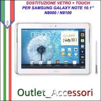 Riparazione Sostituzione Cambio Vetro Touch Touchscreen Rotto per Samsung Galaxy Note 10.1 N8000 N8100