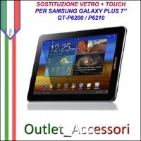 Riparazione Sostituzione Cambio Vetro Touch Touchscreen Rotto per Samsung Galaxy Tab Plus 7 6200 6210 GT