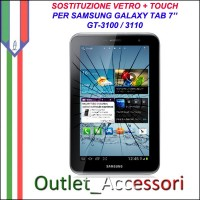 Riparazione Sostituzione Cambio Vetro Touch Touchscreen Rotto per Samsung Galaxy Tab 2 P3100 P3110