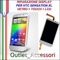 Sostituzione Riparazione Cambio Display Lcd Vetro Touch Touchscreen Schermo Rotto per HTC Sensation XL G21