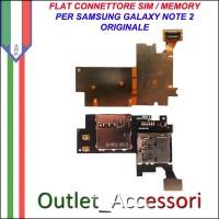 Flat Flex Connettore Cavo Sim Scheda Memory Card per Samsung Galaxy Note 2 Note2 N7100