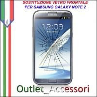 Riparazione Sostituzione Cambio Vetro Rotto Glass Schermo per Samsung Galaxy Note2 Note 2 N7100