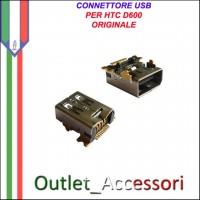 Connettore Usb Jack Carica Ricarica per HTC D600 Ricambio Originale