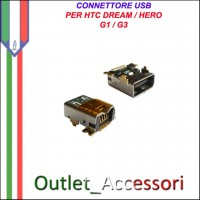 Connettore Usb Jack Carica Ricarica per HTC Dream Hero G1 G3 Ricambio Originale
