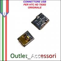 Connettore Usb Jack Carica Ricarica per HTC HD T8282 Ricambio Originale