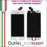 Display Schermo Lcd Touch Screen Vetro Touchscreen Ricambio Originale per Apple Iphone 5 5g Bianco White