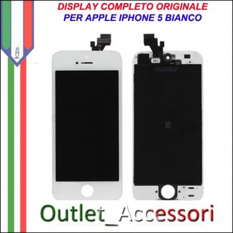 Display Schermo Lcd Touch Screen Vetro Touchscreen Ricambio Originale per Apple Iphone 5 5g Bianco White