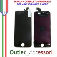 Display Schermo per Apple Iphone 5 A1428, A1429, A1442 Lcd Touch Vetro Qualità Originale Nero