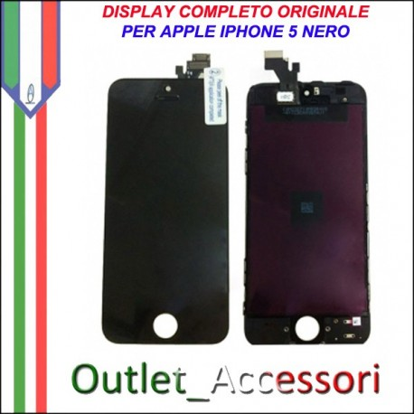 Display Schermo Lcd Touch Screen Vetro Touchscreen Ricambio Originale per Apple Iphone 5 5g Nero Black