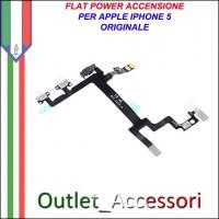 Flat flex Cavo Power Accensione Ricambio Originale per Apple Iphone 5 5g