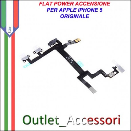 Flat flex Cavo Power Accensione Ricambio Originale per Apple Iphone 5 5g