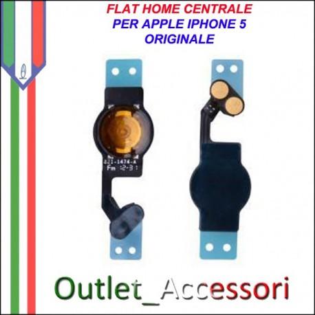 Flat flex Home Tasto Membrana Ricambio Originale per Apple Iphone 5 5g