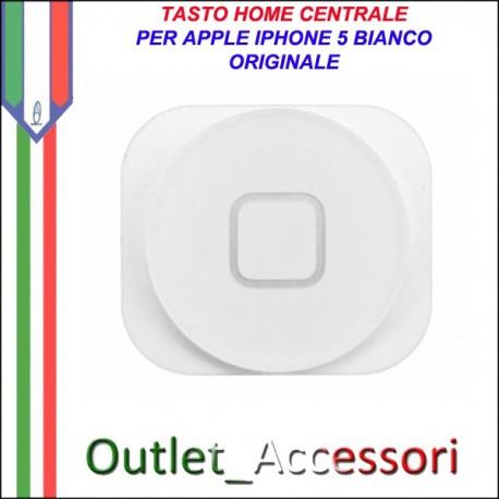 Pulsante Tasto home Centrale Ricambio Originale per Apple Iphone 5 5g Bianco White
