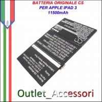 Batteria Potenziata Originale Per Tablet Apple iPAD 3 IPAD3 616-0586 WIFI 3G A1389