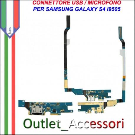 Flat Connettore Usb Ricarica Microfono per Samsung Galaxy S4 I9505 I9500 GT Originale