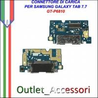 Flat Connettore Usb Ricarica Dock per Samsung Galaxy Tab 7.7 P6810 ORIGINALE