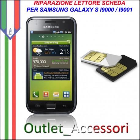 Sostituzione Riparazione Lettore Sim Pista Scheda Rotto per Samsung Galaxy S I9000 Plus i9001
