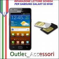 Sostituzione Riparazione Lettore Sim Pista Scheda Rotto per Samsung Galaxy S2 I9100
