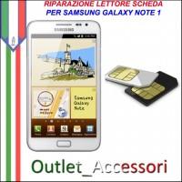 Sostituzione Riparazione Lettore Sim Pista Flat Scheda Rotto per Samsung Galaxy NOTE 1 N7000