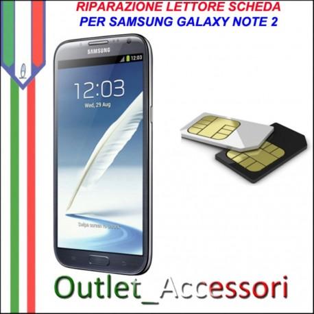 Sostituzione Riparazione Lettore Sim Pista Flat Scheda Rotto per Samsung Galaxy NOTE 2 N7100