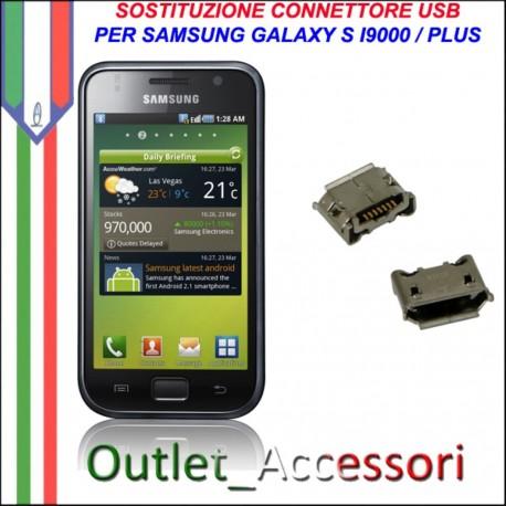 Sostituzione Riparazione Saldatura Porta Connettore Jack Usb Carica Ricarica per Samsung Galaxy S