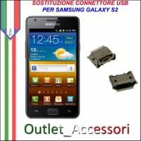 Sostituzione Riparazione Saldatura Porta Connettore Jack Usb Carica Ricarica per Samsung Galaxy S2