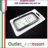 Bumper Cover Custodia Nera per Samsung Galaxy S4 I9500 I9505